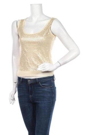 Γυναικείο αμάνικο μπλουζάκι Nice Connection, Μέγεθος M, Χρώμα  Μπέζ, Πολυαμίδη, Τιμή 20,78€