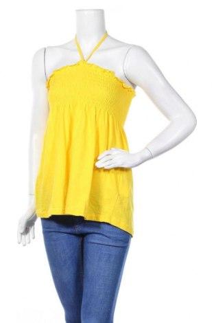 Γυναικείο αμάνικο μπλουζάκι One Love, Μέγεθος M, Χρώμα Κίτρινο, Βαμβάκι, Τιμή 3,18€