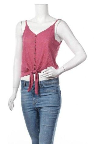 Γυναικείο αμάνικο μπλουζάκι Pink Rose, Μέγεθος M, Χρώμα Ρόζ , 63% πολυεστέρας, 33% βισκόζη, 4% ελαστάνη, Τιμή 7,73€