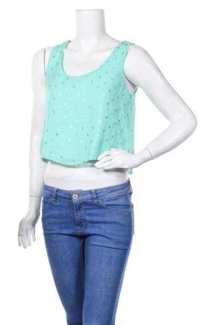 Γυναικείο αμάνικο μπλουζάκι Poetry, Μέγεθος S, Χρώμα Πράσινο, Τιμή 17,66€