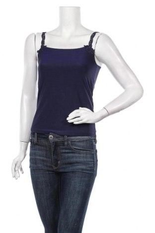 Γυναικείο αμάνικο μπλουζάκι TCM, Μέγεθος M, Χρώμα Μπλέ, 85% πολυαμίδη, 15% ελαστάνη, Τιμή 7,79€