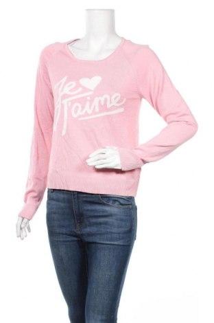 Дамски пуловер, Размер L, Цвят Розов, Вискоза, памук, Цена 21,74лв.