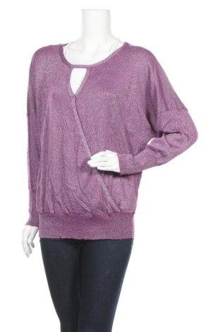 Γυναικείο πουλόβερ Bpc Bonprix Collection, Μέγεθος XL, Χρώμα Βιολετί, 75% βισκόζη, 25% μεταλλικά νήματα, Τιμή 15,59€