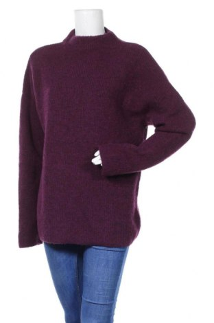 Дамски пуловер COS, Размер M, Цвят Лилав, 73% вълна, 27% полиамид, Цена 52,00лв.