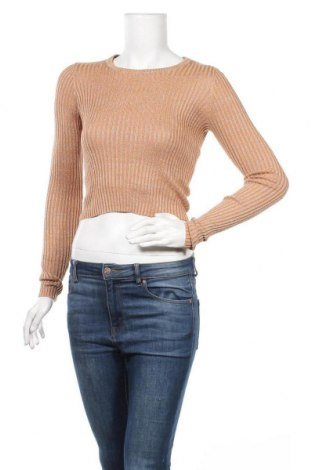 Дамски пуловер Glassons, Размер S, Цвят Кафяв, 85% вискоза, 15% метални нишки, Цена 12,60лв.