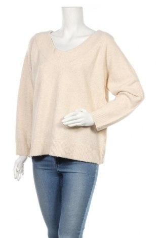 Γυναικείο πουλόβερ H&M, Μέγεθος XL, Χρώμα  Μπέζ, 62%ακρυλικό, 28% πολυαμίδη, Τιμή 17,32€