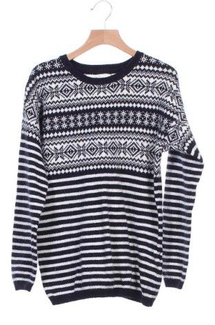 Дамски пуловер H&M L.O.G.G., Размер XS, Цвят Син, 40% памук, 30% полиамид, 25% вискоза, 5% вълна от алпака, Цена 22,44лв.