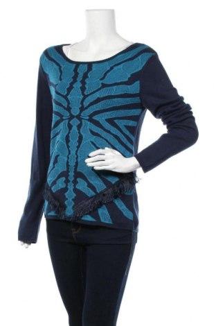 Дамски пуловер Teddy Smith, Размер S, Цвят Син, 40% вискоза, 40% полиамид, 20% акрил, Цена 25,60лв.