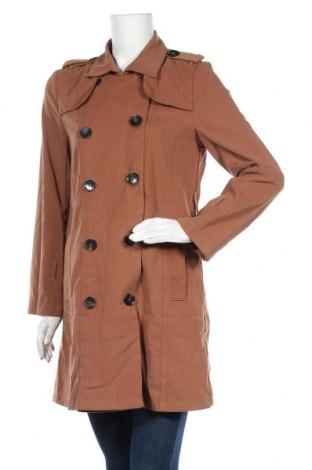 Дамски шлифер, Размер M, Цвят Кафяв, 85% памук, 10% полиестер, 5% еластан, Цена 9,98лв.