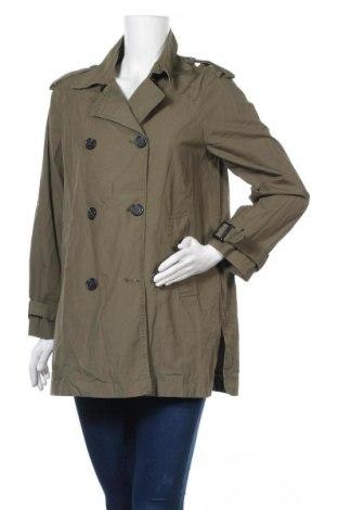 Дамски шлифер Hallhuber, Размер S, Цвят Зелен, Памук, Цена 15,23лв.