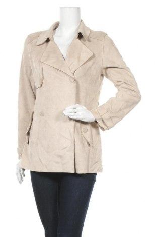 Дамски шлифер Zara, Размер M, Цвят Бежов, 88% полиестер, 12% еластан, Цена 11,55лв.