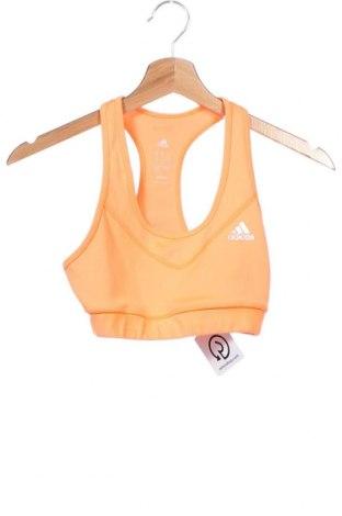 Γυναίκειο αθλητικό τοπ Adidas, Μέγεθος XS, Χρώμα Πορτοκαλί, Τιμή 13,25€