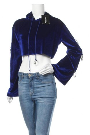 Γυναικείο φούτερ Pretty Little Thing, Μέγεθος M, Χρώμα Μπλέ, 90% πολυεστέρας, 10% ελαστάνη, Τιμή 11,11€