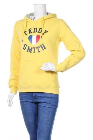 Γυναικείο φούτερ Teddy Smith, Μέγεθος S, Χρώμα Κίτρινο, 79% βαμβάκι, 21% πολυεστέρας, Τιμή 16,06€