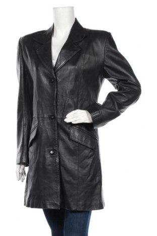 Дамско кожено палто, Размер XL, Цвят Черен, Естествена кожа, Цена 23,10лв.