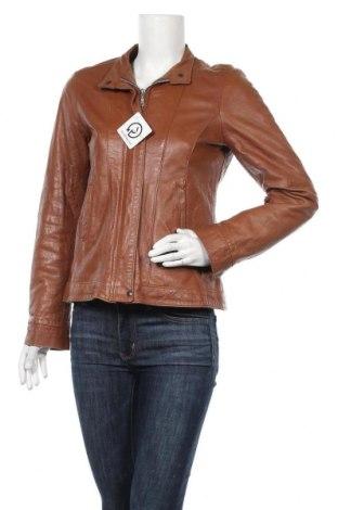 Дамско кожено сако, Размер L, Цвят Кафяв, Естествена кожа, Цена 83,79лв.
