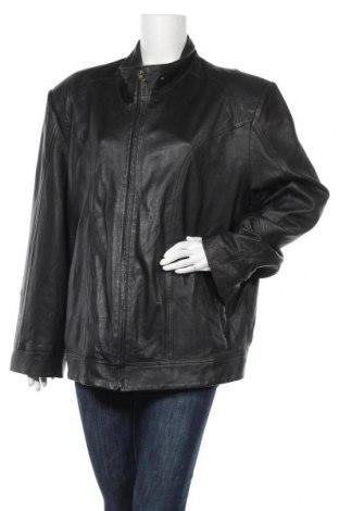 Дамско кожено сако, Размер XXL, Цвят Черен, Естествена кожа, Цена 88,20лв.