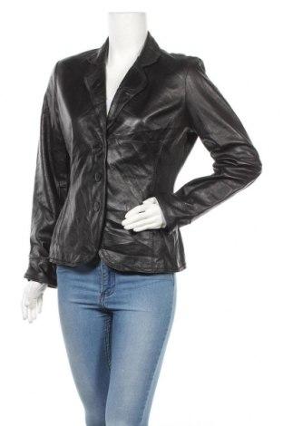 Дамско кожено сако Jones New York, Размер M, Цвят Черен, Естествена кожа, Цена 25,99лв.