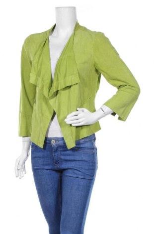 Γυναικείο δερμάτινο σακάκι Marc Cain, Μέγεθος M, Χρώμα Πράσινο, Γνήσιο δέρμα, Τιμή 36,24€