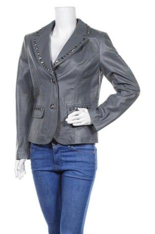 Дамско кожено сако Sarah Kern, Размер M, Цвят Сив, Естествена кожа, Цена 91,50лв.