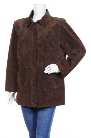 Γυναικείο δερμάτινο μπουφάν, Μέγεθος XL, Χρώμα Καφέ, Φυσικό σουέτ, Τιμή 17,28€