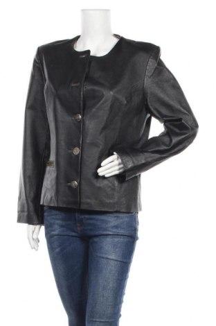 Дамско кожено яке, Размер L, Цвят Черен, Естествена кожа, Цена 61,95лв.