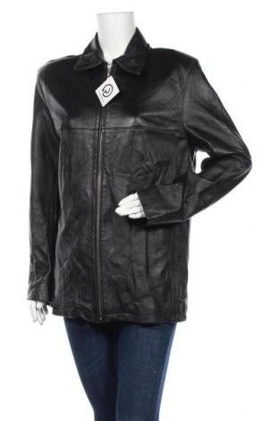 Дамско кожено яке, Размер M, Цвят Черен, Естествена кожа, Цена 19,95лв.