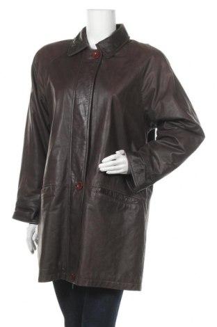 Дамско кожено яке, Размер S, Цвят Кафяв, Естествена кожа, Цена 16,80лв.