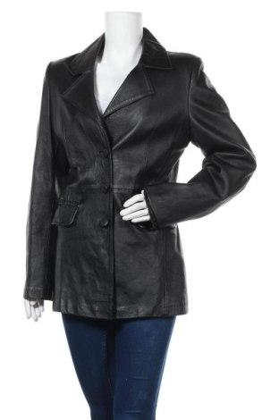 Дамско кожено яке, Размер M, Цвят Черен, Естествена кожа, Цена 18,90лв.