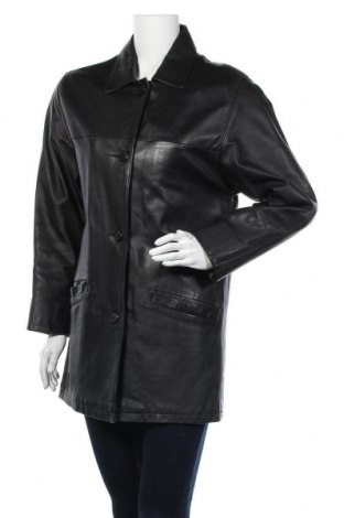 Γυναικείο δερμάτινο μπουφάν, Μέγεθος M, Χρώμα Μαύρο, Γνήσιο δέρμα, Τιμή 17,15€