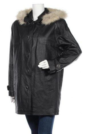 Дамско кожено яке, Размер L, Цвят Черен, Естествена кожа, Цена 35,70лв.