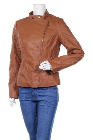Γυναικείο δερμάτινο μπουφάν, Μέγεθος XL, Χρώμα Καφέ, Δερματίνη, Τιμή 24,03€