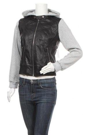 Γυναικείο δερμάτινο μπουφάν, Μέγεθος L, Χρώμα Μαύρο, Δερματίνη, κλωστοϋφαντουργικά προϊόντα, Τιμή 28,58€