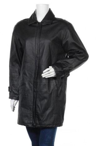 Γυναικείο δερμάτινο μπουφάν Barisal, Μέγεθος M, Χρώμα Μαύρο, Γνήσιο δέρμα, Τιμή 17,28€