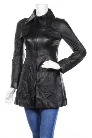 Γυναικείο δερμάτινο μπουφάν Bebe, Μέγεθος XS, Χρώμα Μαύρο, Γνήσιο δέρμα, Τιμή 77,29€