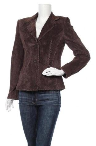 Γυναικείο δερμάτινο μπουφάν Betty Barclay, Μέγεθος M, Χρώμα Καφέ, Γνήσιο δέρμα, Τιμή 18,64€