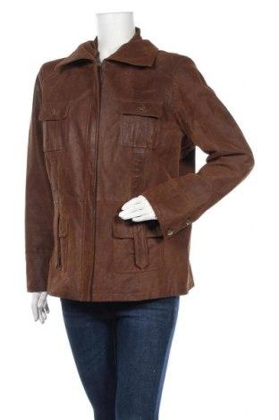 Дамско кожено яке Biaggini, Размер XL, Цвят Кафяв, Естествена кожа, Цена 72,45лв.