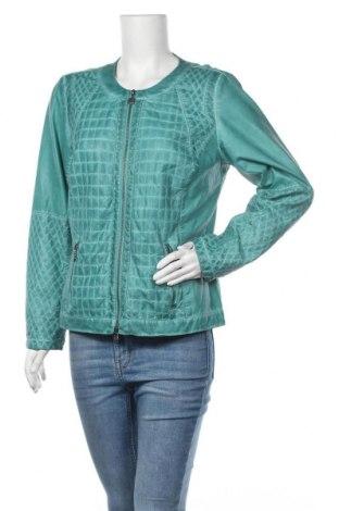 Дамско кожено яке Bonita, Размер L, Цвят Зелен, Еко кожа, Цена 18,90лв.
