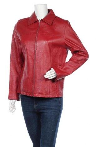 Γυναικείο δερμάτινο μπουφάν C&A, Μέγεθος M, Χρώμα Κόκκινο, Γνήσιο δέρμα, Τιμή 18,64€