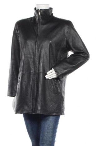 Дамско кожено яке Cabrini, Размер L, Цвят Черен, Естествена кожа, Цена 28,67лв.