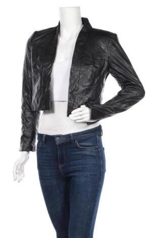Γυναικείο δερμάτινο μπουφάν Calvin Klein, Μέγεθος S, Χρώμα Μαύρο, Δερματίνη, Τιμή 42,08€