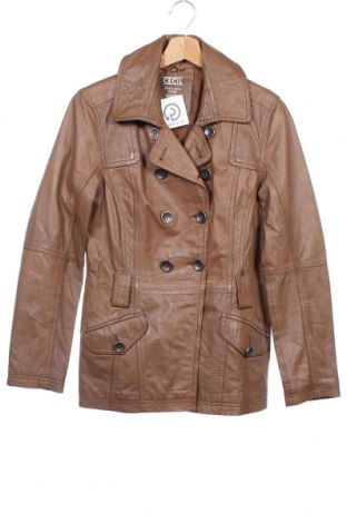 Дамско кожено яке Cecil, Размер XS, Цвят Кафяв, Естествена кожа, Цена 67,20лв.