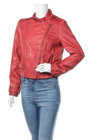 Дамско кожено яке Clockhouse, Размер L, Цвят Червен, Еко кожа, Цена 13,97лв.