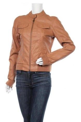 Дамско кожено яке Colours Of The World, Размер M, Цвят Кафяв, Еко кожа, Цена 40,95лв.