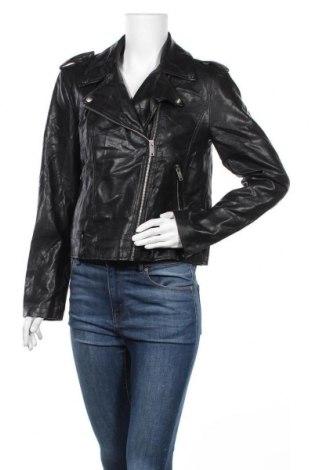 Дамско кожено яке Forever 21, Размер M, Цвят Черен, Еко кожа, Цена 30,14лв.