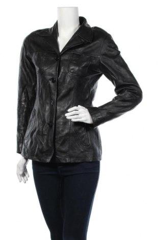 Γυναικείο δερμάτινο μπουφάν Gipsy, Μέγεθος M, Χρώμα Μαύρο, Γνήσιο δέρμα, Τιμή 25,91€