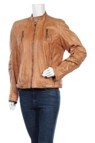 Γυναικείο δερμάτινο μπουφάν Gipsy, Μέγεθος XL, Χρώμα  Μπέζ, Γνήσιο δέρμα, Τιμή 65,93€