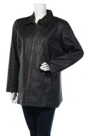 Дамско кожено яке Jcc, Размер XL, Цвят Черен, Естествена кожа, Цена 17,85лв.
