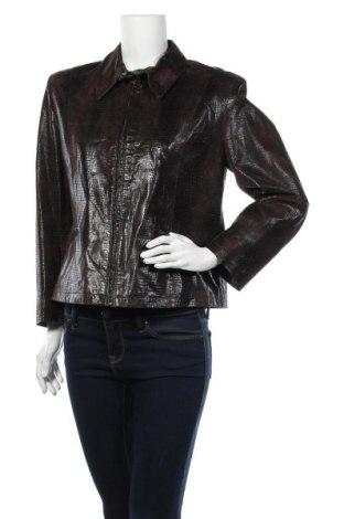 Дамско кожено яке Joy, Размер XL, Цвят Кафяв, Естествена кожа, Цена 17,85лв.