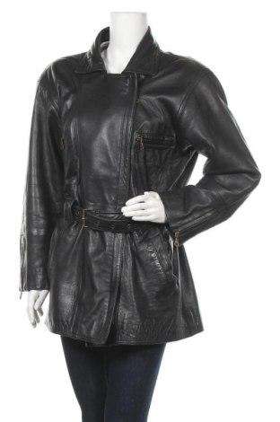 Дамско кожено яке Joy, Размер M, Цвят Черен, Естествена кожа, Цена 40,32лв.